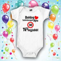 Boldog Születésnapot Apa (Sebességkorlátozó táblával) - Babaruha 600b3c6c4f