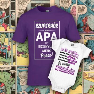 Kedvenc szuperhősöm Apa - LILA Családi csomag