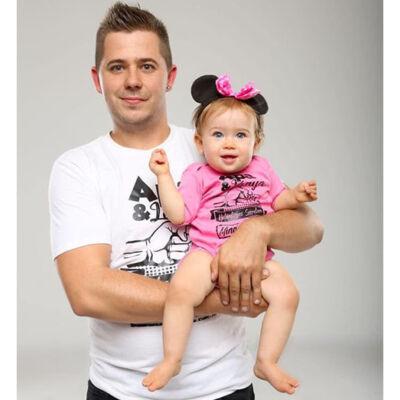 Apa és Lánya különleges szerelem (Fehér - rózsaszín)