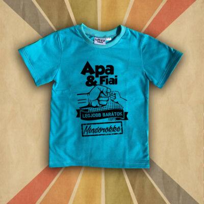Apa és Fiai legjobb Barátok - Gyerkőc póló (kék)