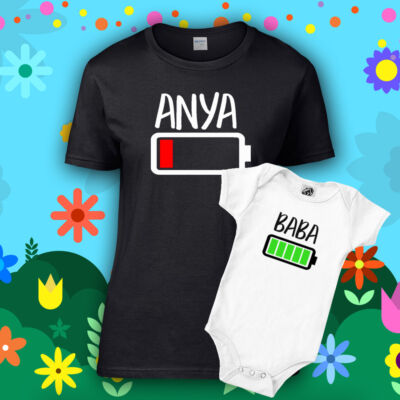 Anya & Baba Akkumulátor (Fekete - Fehér)