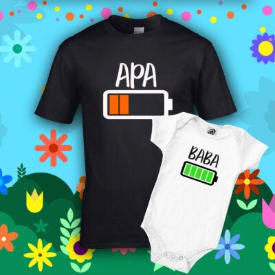 Apa & Baba Akkumulátor (Fekete - fehér)