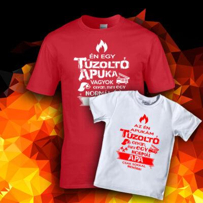 Tűzoltó Apuka Családi csomag (Piros - fehér)
