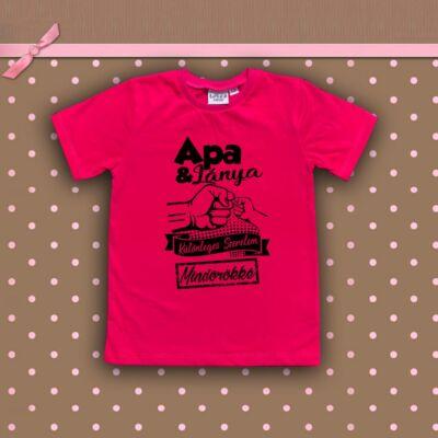 Apa & Lánya Különleges szerelem - Gyerkőc póló (fukszia)