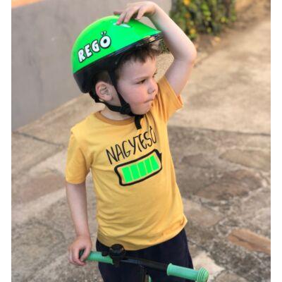 Nagytesó akkumulátor - Gyerkőc póló (Mustárszín)