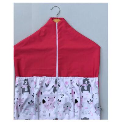 Ovizsák - Maci és nyuszi (Rózsaszín) - Egyedi felirattal is rendelhető