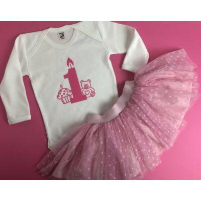 Szülinapos Pink Baby TÜTÜ szett