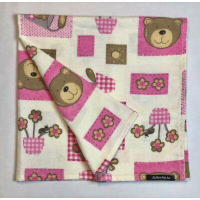 Textil Pelenka - Rózsaszín Macis (1db)
