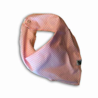 Nyálfogó kendő - Kockás rózsaszín