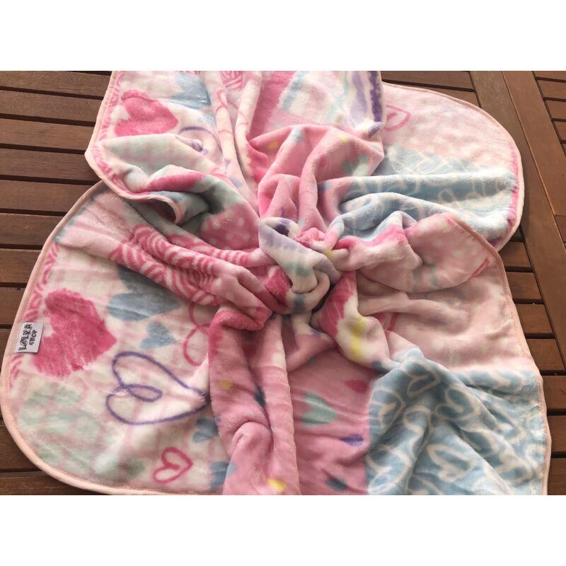 Babapléd - Pinky Baby Wellsoft Takaró (Kétoldalas)