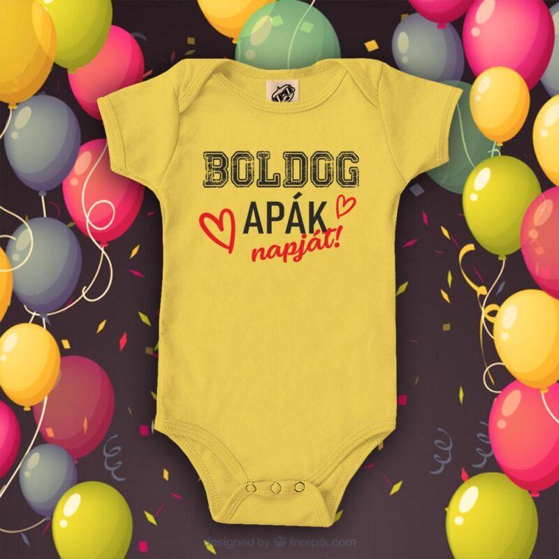 Boldog Apák Napját (sárga)