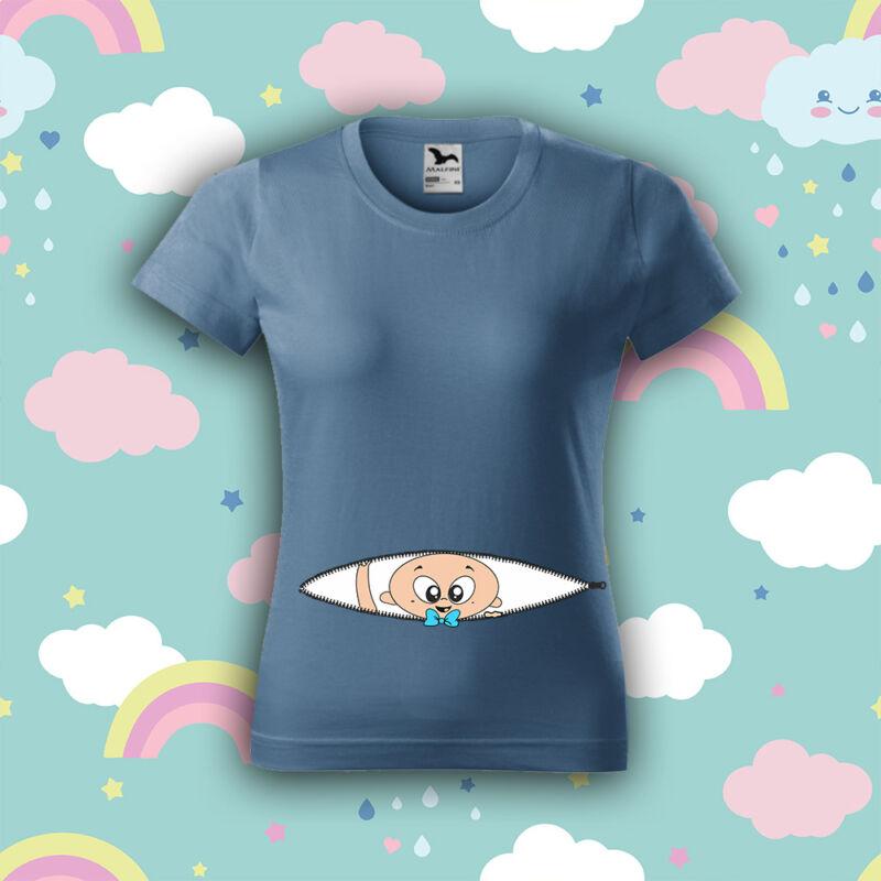 Kukucs, Kisfiú - Női póló (Kismama mintával)
