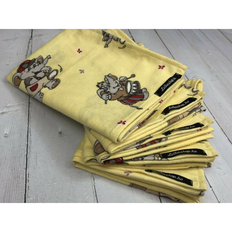 Textil Pelenka - Sárga Elefántok (1db)
