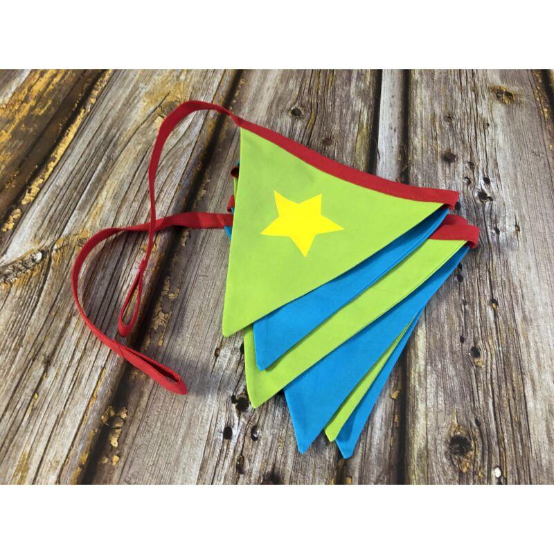 Zászlófüzér - Egyedi névvel (Szuperhős színekben)
