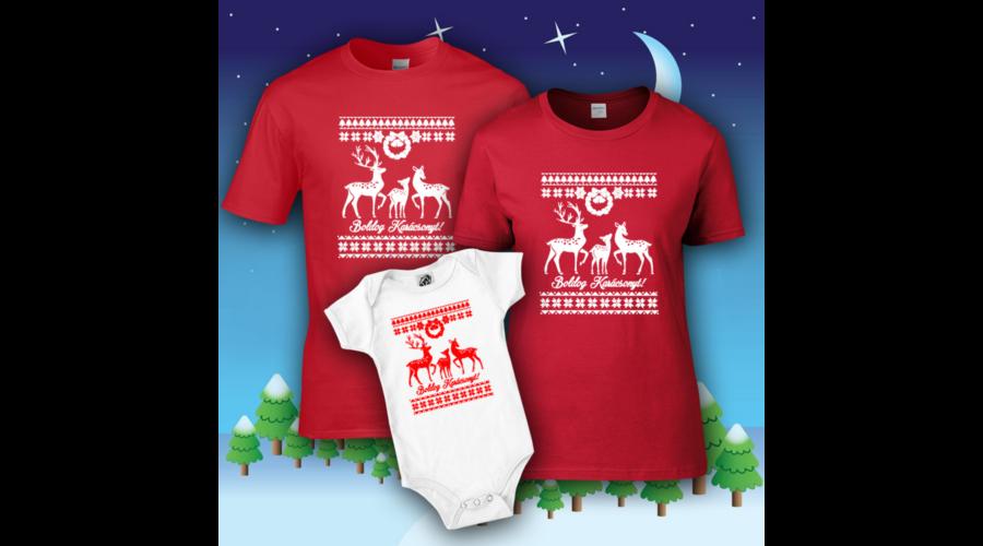 Boldog Karácsonyt (Rénszarvas) - Családi csomag 13c680cba0