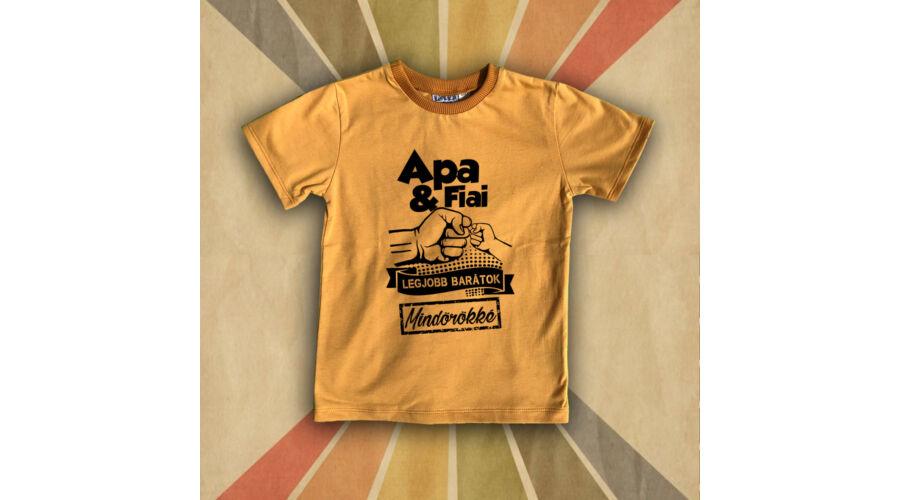 2dc9179ccd Apa & Fiai Legjobb Barátok (Mustárszín)